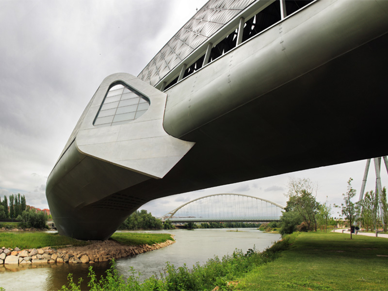 zaha hadid bridge pavilion zaragoza spain