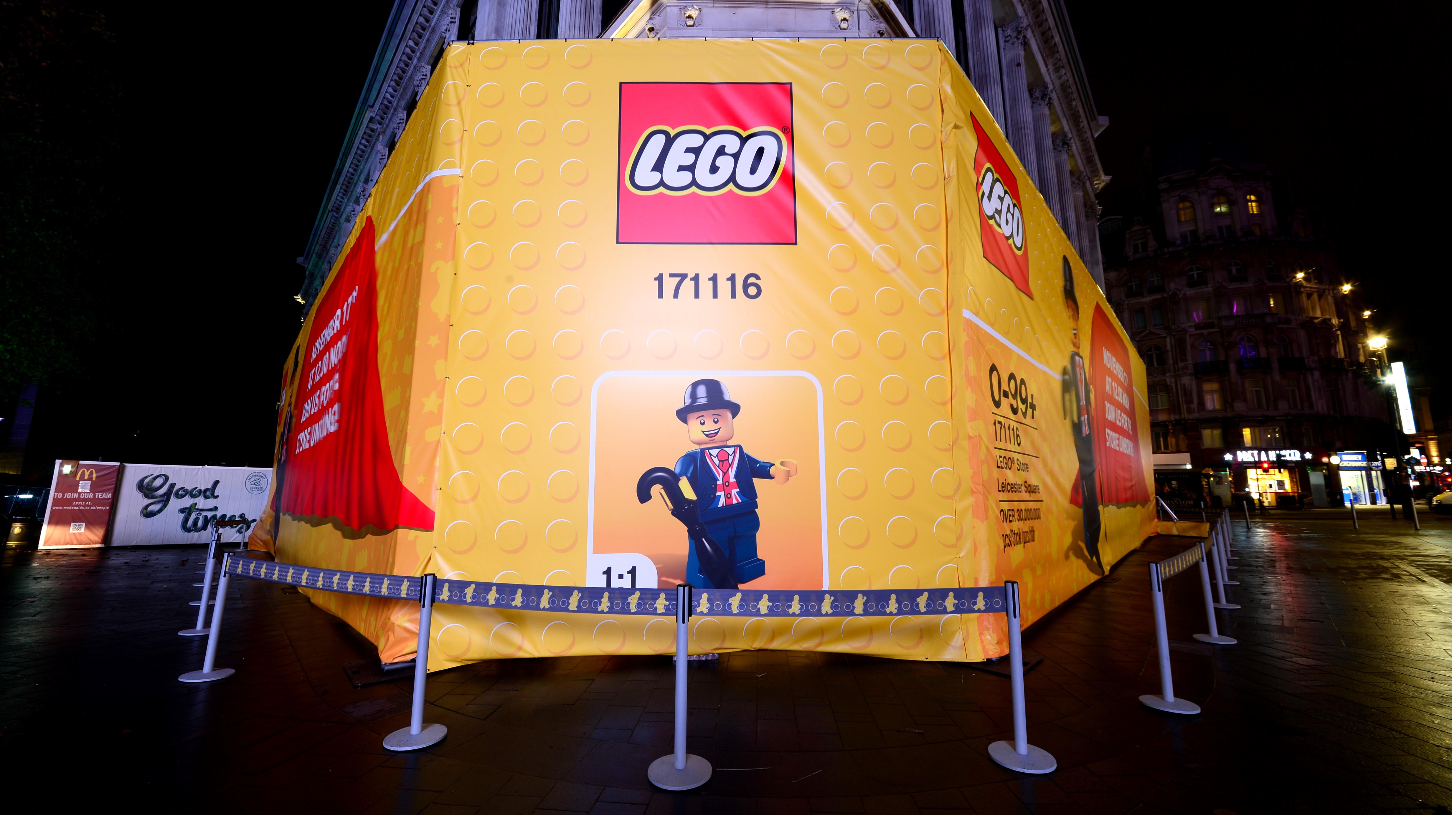 Hollywood Monster Unveils works at Lego and Piccadilly Circus