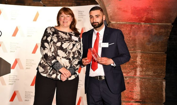 Huseyin Bozdogan, Construction Apprentice for Berkeley Group Named Best Apprentice
