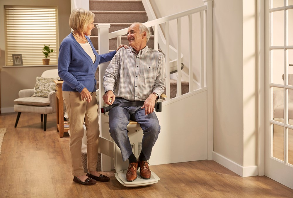 delighted at the improvement their new stairlift has made to their daily quality of life